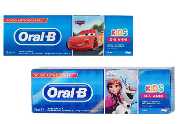 ORALB DENTIFRICIO KIDS FROZEN&amp,CARS 0-5 ANNI 75 ML