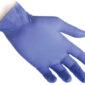 guanti nitrile blu